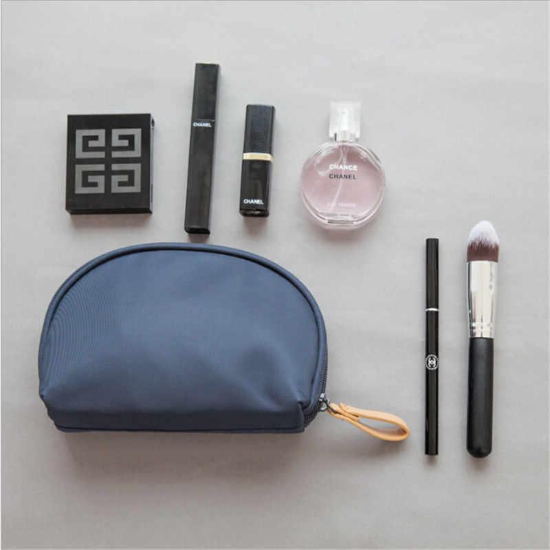 Nuevo bolso de mano de nailon impermeable con cremallera En forma de concha bolso de viaje Mini neceser estuche para maquillaje