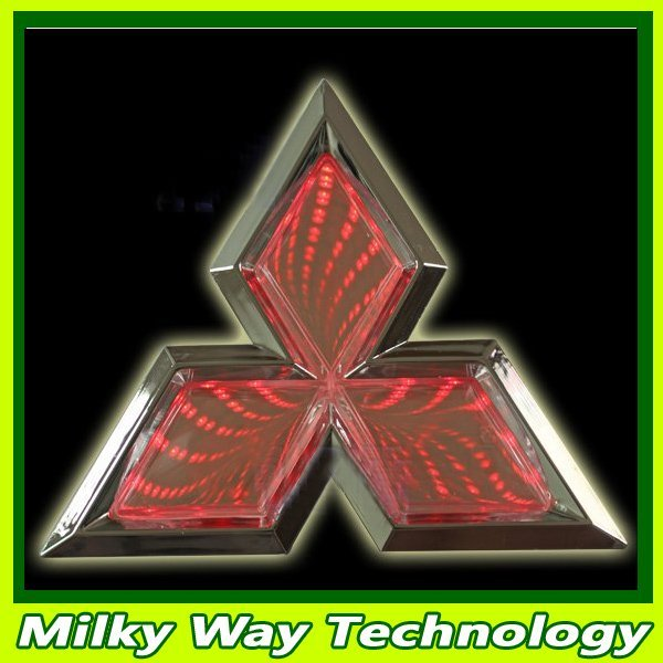 FREE SHIPPING 3D car badge lightings,auto led light,auto emblem logo led lamp for Mitsubish #LX06490