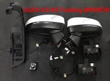 Audi a3 8 v 자동 접이식 전기 접이식 미러 업그레이드 키트 용 거울 및 모듈