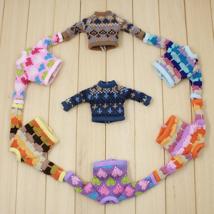 Neo Blythe Doll Colorful Sweater 5