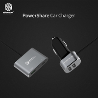NILLKIN Fast Car Charger adapter for iPhone iPad USB Quick Charge 3.0 Mobile Phone Charger Type C for Samsung Xiaomi