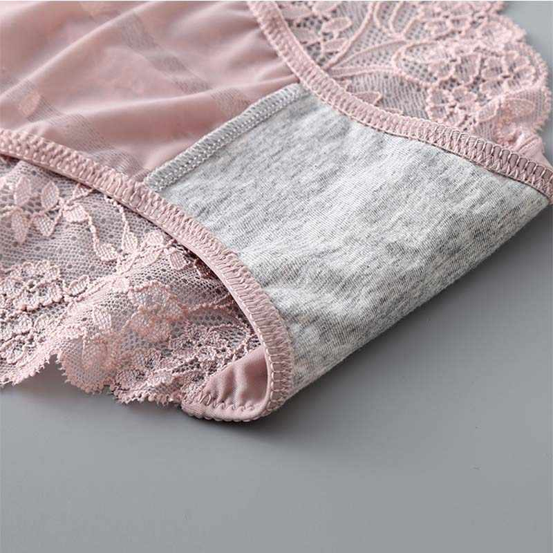 BEFORW femmes culottes Ultra-mince creux sous-vêtements femmes taille basse dentelle transparente Sexy culottes respirant Lingerie culottes femmes