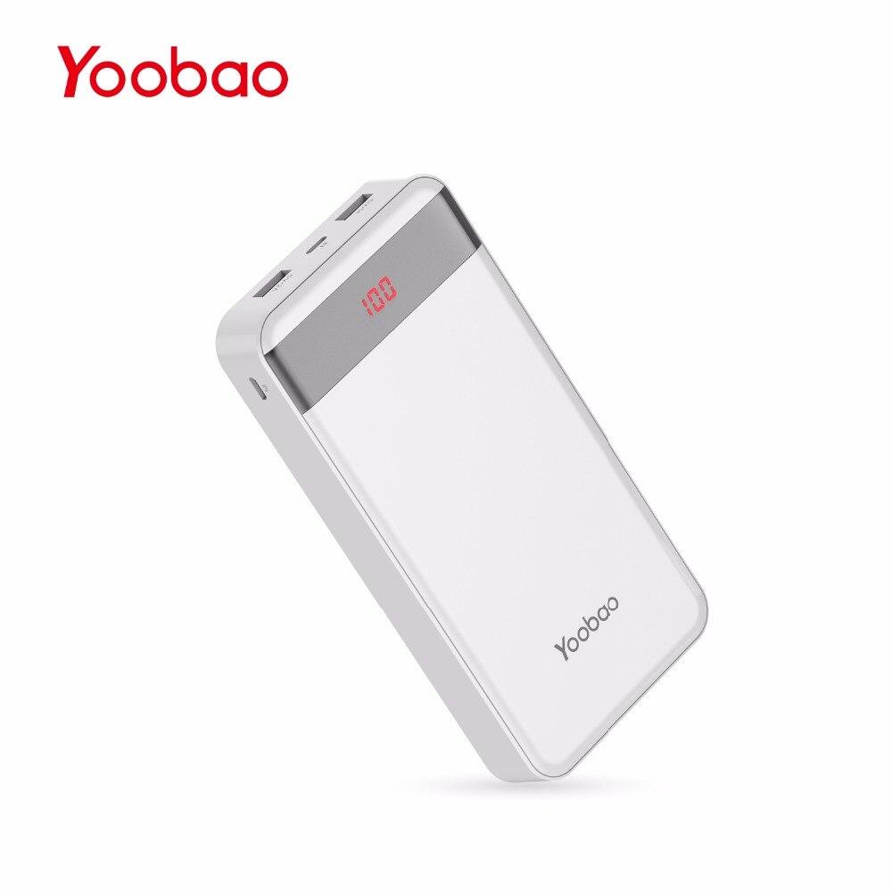 imágenes para M20Pro Yoobao 20000 mAh Cargador Portátil Dual USB de Salida/Entrada (Entrada de Rayos y Mircro) Teléfono Móvil Externo Paquete de la batería