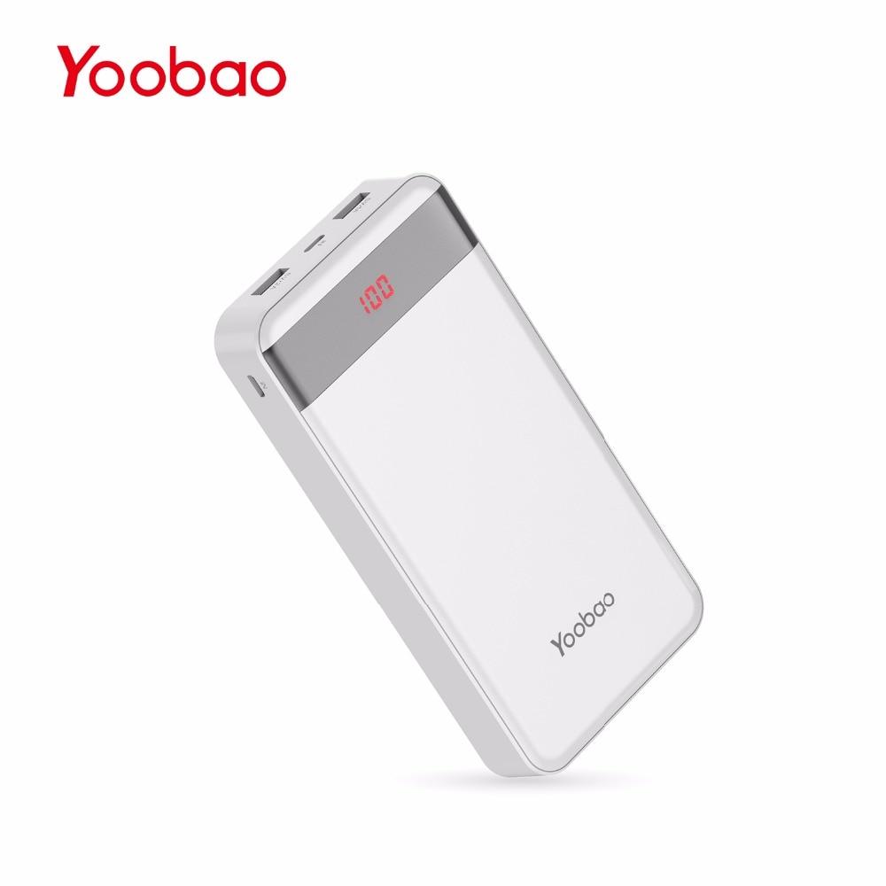 bilder für Yoobao M20Pro 20000 mAh Tragbares Ladegerät Dual USB Ausgang/(Blitz & Mircro Eingang) Handy Externe Akku
