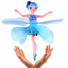 Newest Flying Fairy Dolls Elsa Toy Infrared Induction Control Flying Dolls For Girls Remote Control Flying Toys For Children