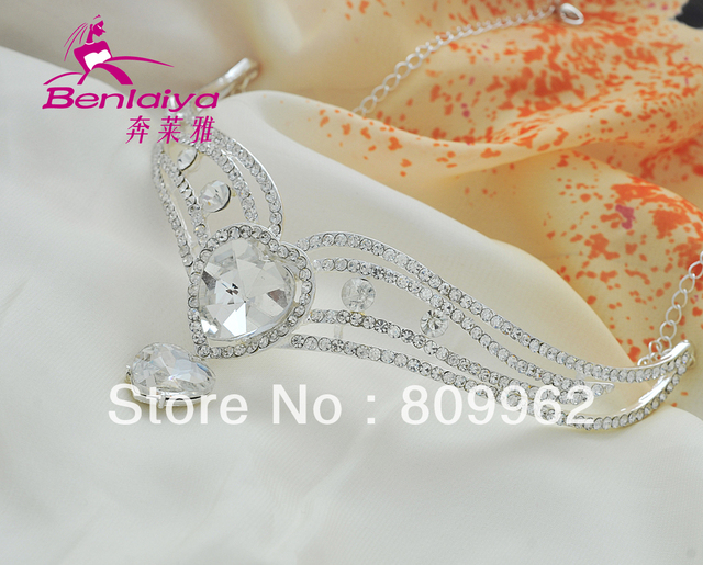 Free Shipping 2pcs/lot Hair Accessories Fashion Tiaras Wedding Rhinestone Bridal Tiara Charm Accessories for Jewelry Hair Crown