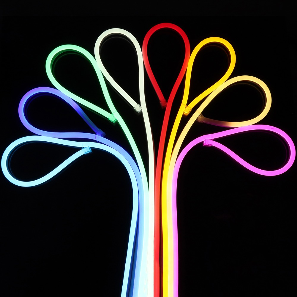 EU Plug Neon Strip 8 Colors Neon Ribbon 220V 220 V LED Strip Light Waterproof 120 Leds/m Smd2835 Tape Ledstrip Stripe IL