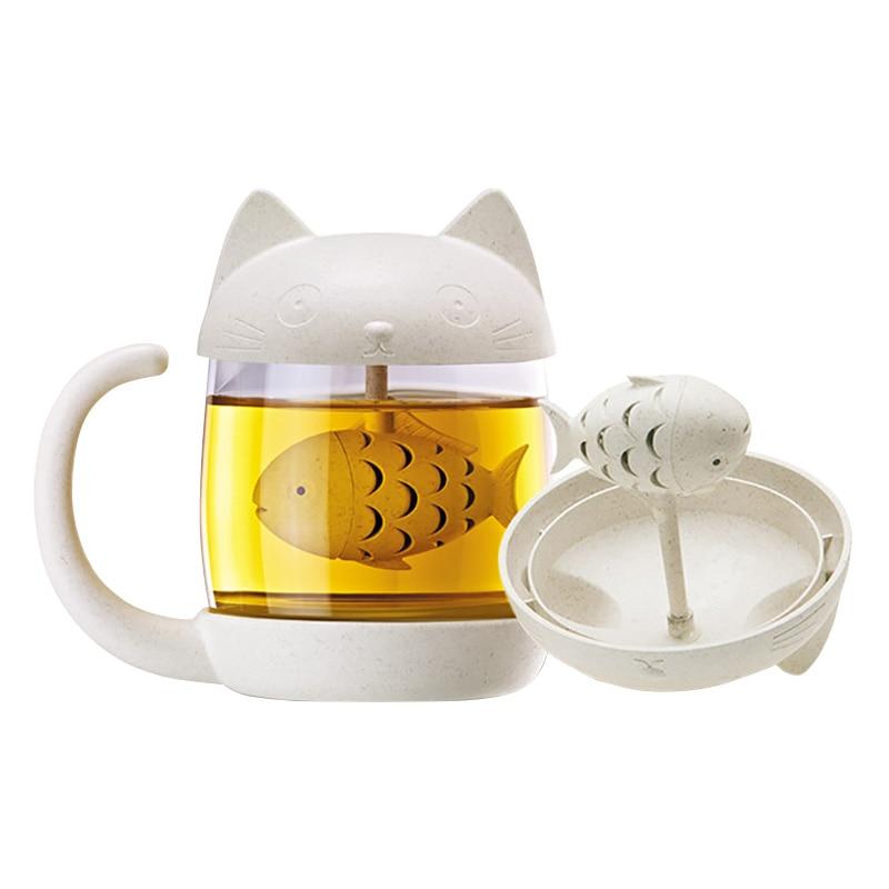 cat tea infuser mug