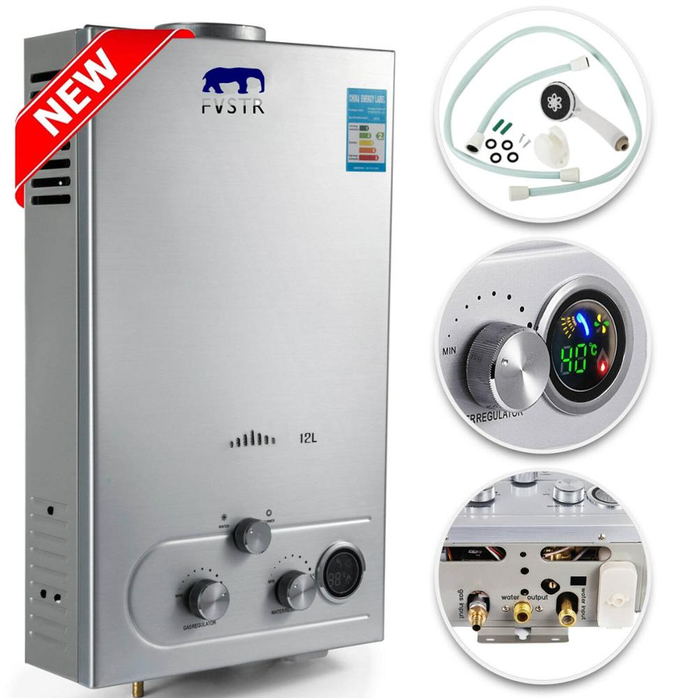 (EU)Free Shipping Flue Type Selling Flue Type Lgp Instant / Tankless 6-18L Gas Lpg Hot Water Heater Propane Stainless 2800pa  5S