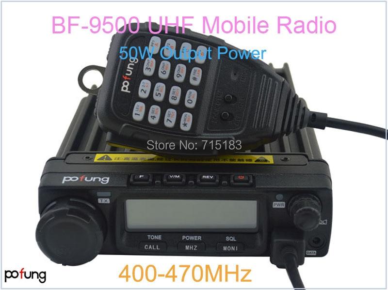 New Pofung Baofeng BF-9500 Mobile Radio/Vehicle Radio UHF:400-470MHz 200CH 50W Car Radio Pofung BF9500 Radio Station