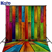 150x220cm Kate Background Colored Wood Flooring Photography Backdrops Children Photobooth Backdrop 3316 LK