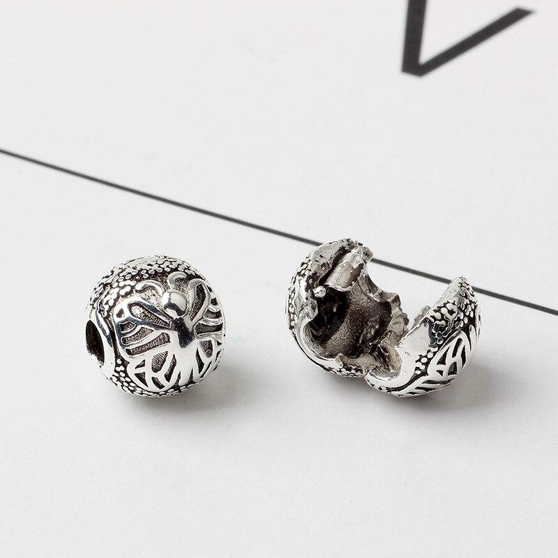 free shipping european round safety diy bead clip charm fit Original Pandora charms Bracelet S012