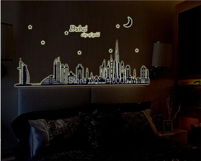Aliexpresscom Buy Dubai City Of Gold Glow In The Dark Bedroom