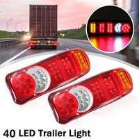 1Pair 12V 40LED Trailer Truck Van Caravan Stop Brake Rear Tail Indicator Light Lamp