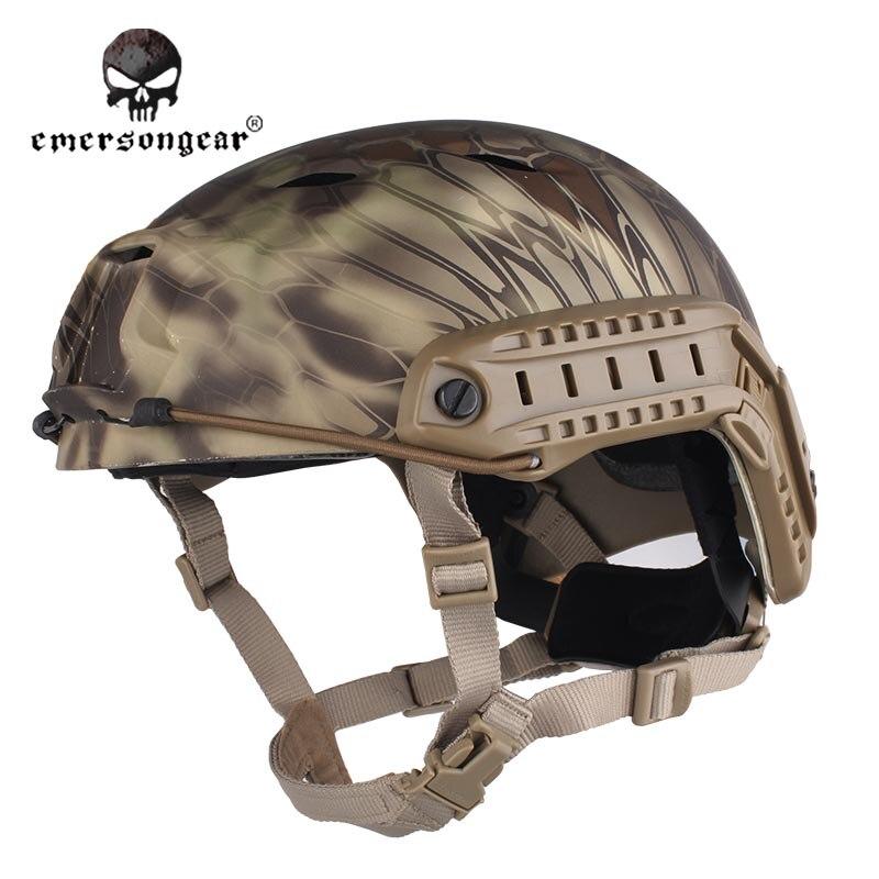 ФОТО Emersongear Fast Base Jump Hunting Wargame Adjustable Helmet Protective Helmet Emerson BJ Type EM5659H Highlander