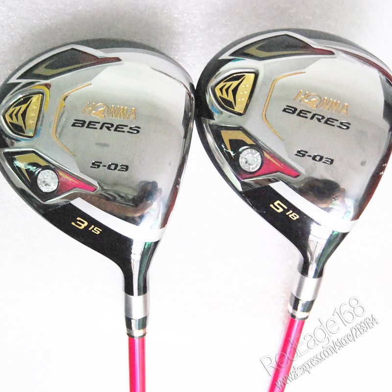 Cooyute New womens Golf clubs HONMA S-03 3/15 5/18 Golf fairway wood with Graphite Golf shaft wood clubs free shipping new mens cooyute golf clubs honma s 05 4star golf wood complete set driver with fairway woods graphite golf shaft free shipping