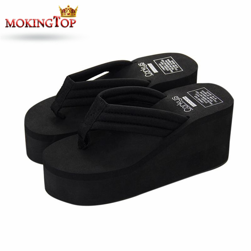 MOKINGTOP summer Non-slip Wedges Flip Flop slippers woman Flip-flops Beach slipper summer 2018 women slipper Beach shoe#W vitek vt 7150 w