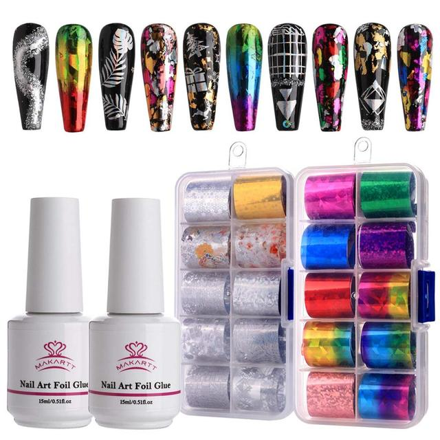 Nail Art Foil & Gel Glue