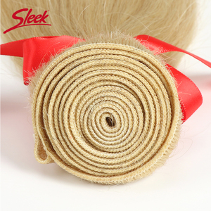 Image 5 - Sleek Brazilian Straight Hair Blonde 613 Color Weave Bundles 8 To 26 Inches  Remy Human Hair Extension Can Buy 3 or 4 Free Ship