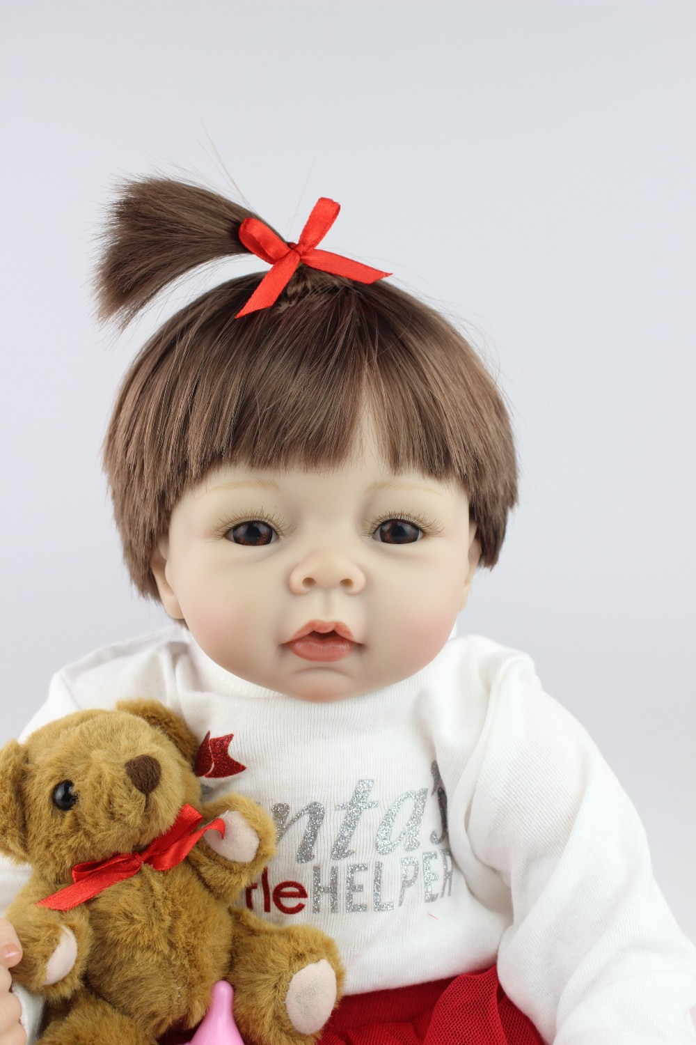 NPKCOLLECTION 22inch reborn babies doll bebe princess menina de silicone menina 55cm boneca for Children's toy Birthday gift