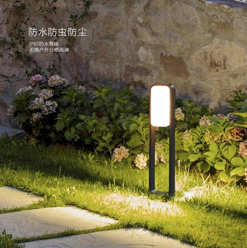 10 Вт напольный пост 72 см высота Алюминий Средства ухода за кожей 3 кг, теплый белый 623 люмен ac100-230v ...