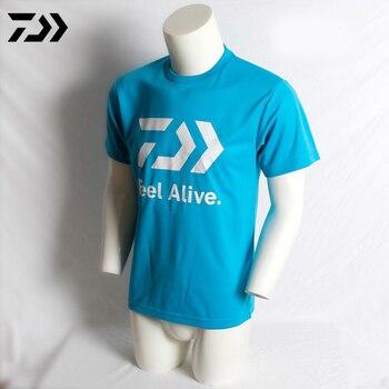 f8d83ec02 Daiwa de pesca nuevo camiseta de pesca al aire libre ropa deportiva secado  rápido sol protección anti-UV transpirable hombres Camiseta de manga corta