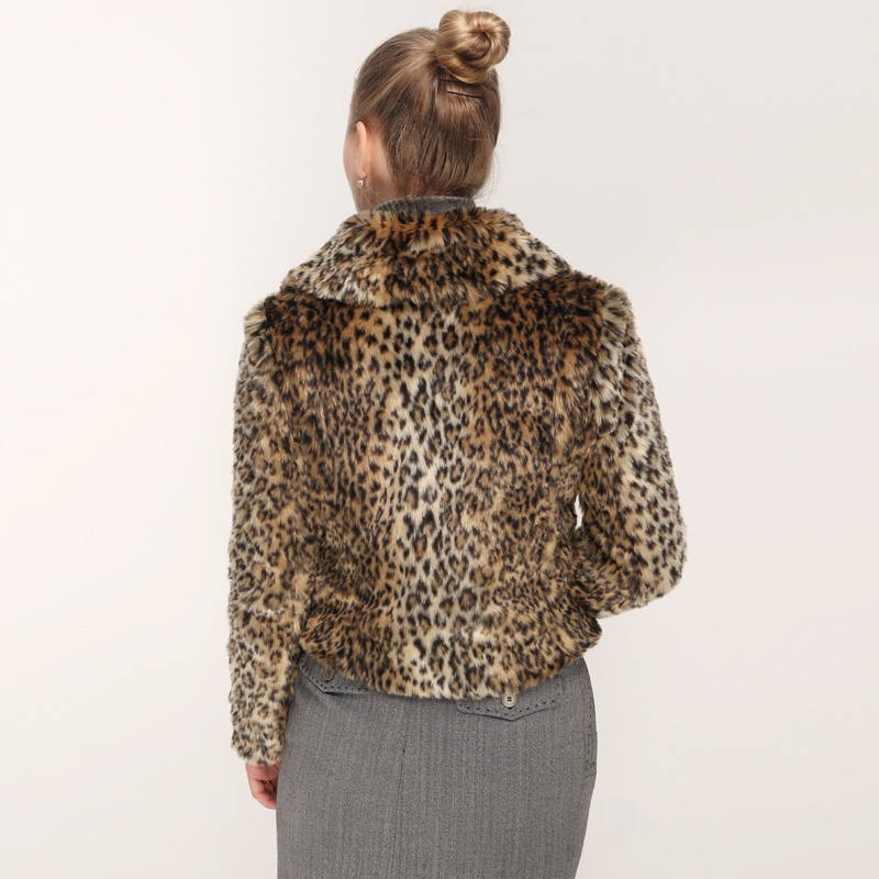 8171e6e9b6f8 City in Left Winter 2018 Women Custom Made Luxury Faux Fur Jacket Thick  Warm Faux Fur Short Leopard Coat Fashion Outwear CIL712-in Faux Fur from  Women's ...