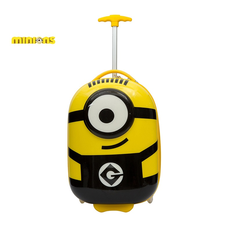 18 inch Kids minions luggage  3D drawbars CAPPE children gift 3D drawstring suitcase  18 inch Kids minions luggage  3D drawbars CAPPE children gift 3D drawstring suitcase