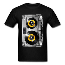 Old School Cassette Tee-Shirt NONSTOP Play Tape T Shirt Elec