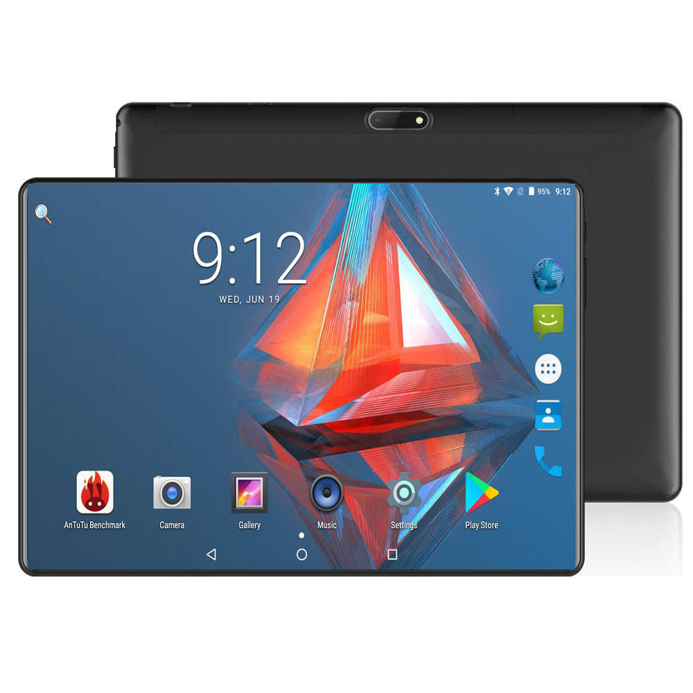New Edition Tempered 2.5D Glass 10 inch tablet Android 8.0 Octa Core 6GB RAM 64GB ROM 1280x800 HD IPS Screen GPS Media Pad