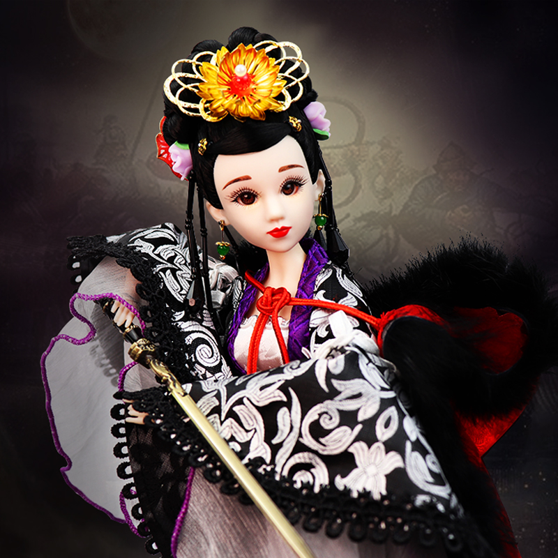 Handmade Song Dynasty Lady General Red Jade Chinese National Heroine Ancient Dolls 1/6 Bjd Doll Toys for Girls Gifts Brinquedos