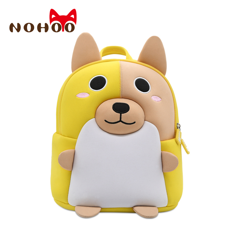 Nohoo Boy Kindergarten Kids School Bag Corgi Dog 3D Shape Backpack for Boy Girl Cute School Backpack 2-5 Years Old School Bag цена и фото