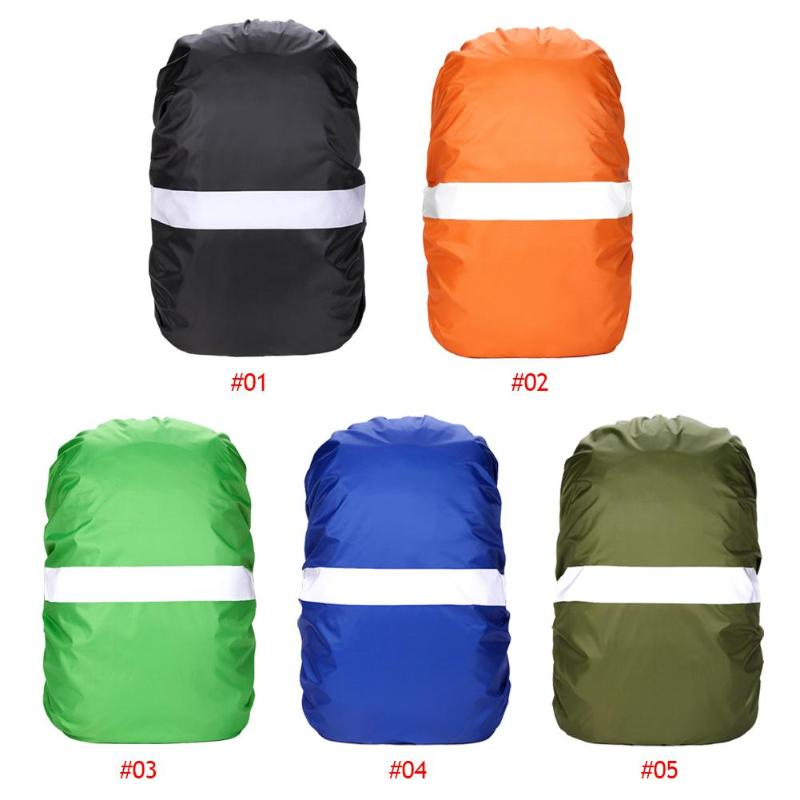 Outdoor Hiking Cycling Adjustable Waterproof Portable Dust-proof Backpack Bag Reflective Dust Rain Cover Soild Tear-Resistant