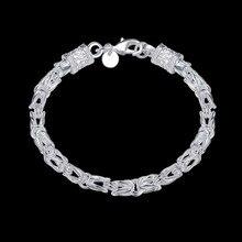 Men's Jewelry 5MMX20CM bracelet 925 Sterling Silver Charm Dragon Bracelets gift bag H096