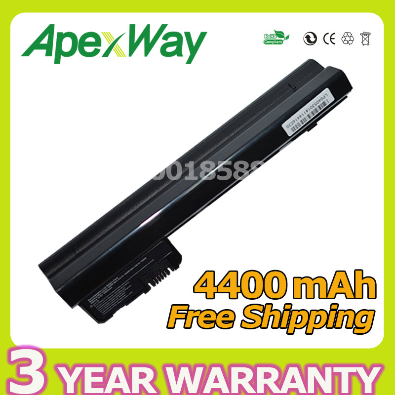 Apexway 4400 mah 6 Cellulaire Batterie D'ordinateur Portable Pour HP Mini 102 CQ10 110 110c 530973-741 537626-001 HSTNN-I70C HSTNN-LB0C NY220AA NY221AA
