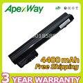 Apexway 4400 mah 6 células bateria do portátil para hp mini 102 cq10 110 110c 530973-741 537626-001 hstnn-i70c hstnn-lb0c ny220aa ny221aa