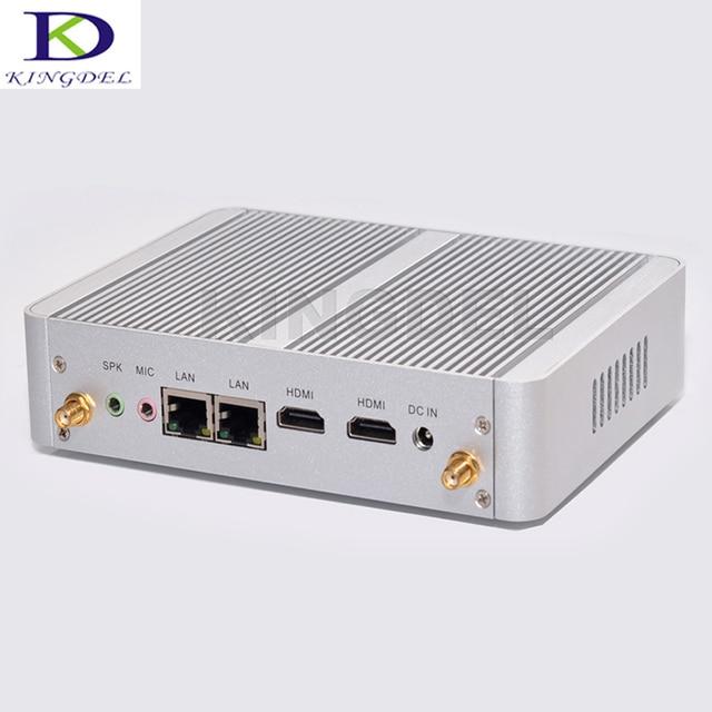 Barato intel celeron n3150 quad core fanless mini computador desktop Dual Lan HTPC 300 M WIFI 8 GB RAM 256 GB SSD Windows 10