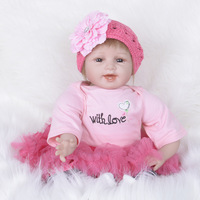 22 55 cm Handmade Doll Reborn Lifelike Soft Silicone Reborn Baby Dolls For Girls Kids Birthday Gifts