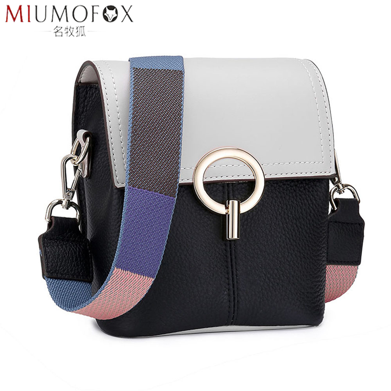 2019 New Arrival Genuine Leather Messenger Bags For Women Brand Designer Versatile Handbag Shoulder Bags Famous Brands Small Bag