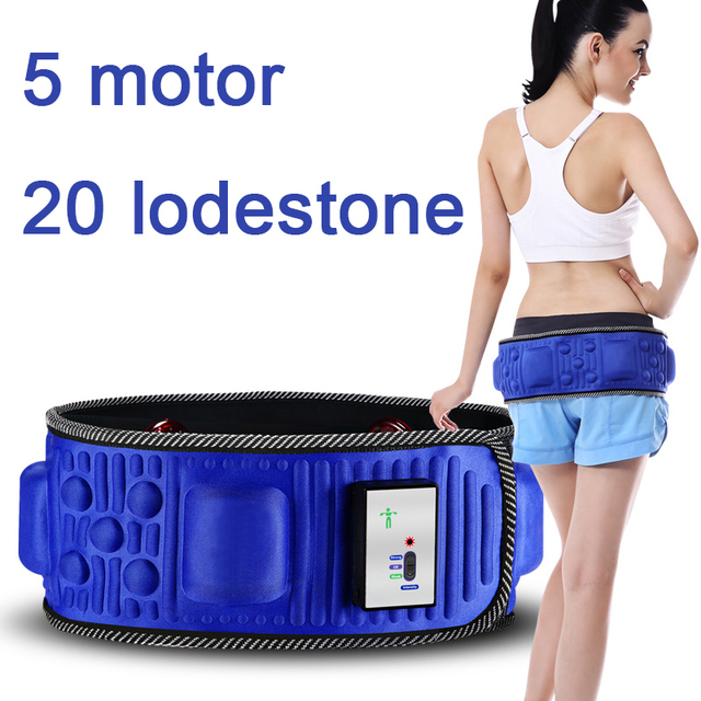 New Abdomen reduce weight thin waist 5 motor Vibration Slimming Massage Rejection Fat Weight Lose Belt Health beauty