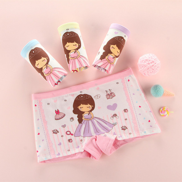 8Pcs/ Lot Baby Girls Panties 2018 New Kids Underwear Cotton Cute Cartoon Cat Printed Child Briefs Boxer Underpants