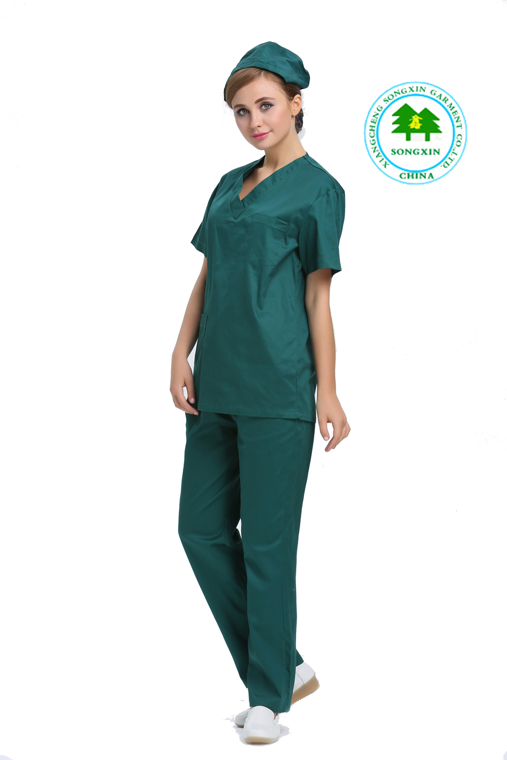00eec17b4c8 Free Shipping OEM surgical clothing dark green doctor suit hospital  workwear physician service uniforme medico for women-in Scrub Sets from  Novelty ...