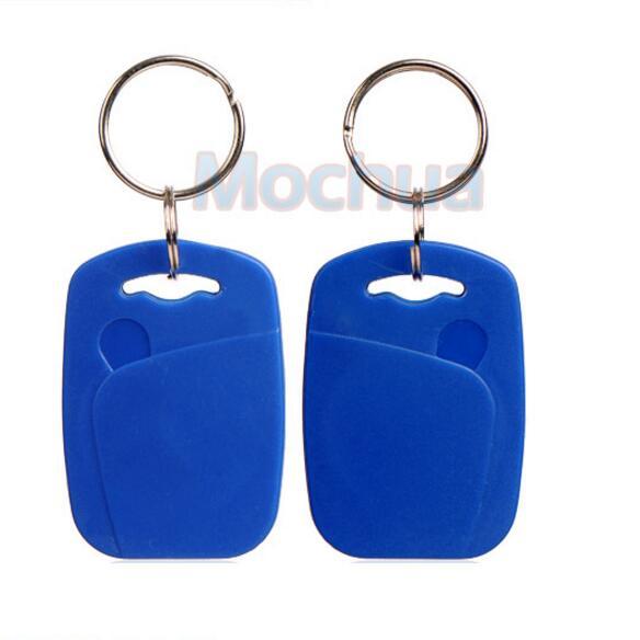 100pcs 125Khz Rewritable RFID Proximity ID Keyfobs T5567/T5577/T5557 with Metal Ring (Free shipping) turck proximity switch bi2 g12sk an6x