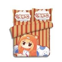Japoński Anime Himouto! Umaru p-chan Umaru Doma 4 sztuk Łóżko Pościel Pościel Kołdra Okładka Zestaw