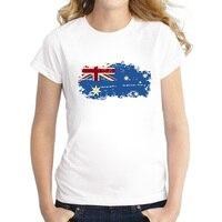 Australia National Flag Women T Shirts Short Sleeve Australia 2016 Rio Summer Games Fans Cheer Casual