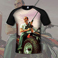 Game gta  4 t shirt summer GTA5 t-shirt fashion  short-sleeve T shirts      DT022