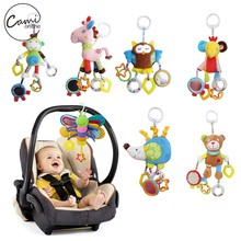 Baby Butterfly Stroller Rattles Infant Crib Mobile Plush Owl Bear Handbell Toddler Musical Doll Bed Hanging
