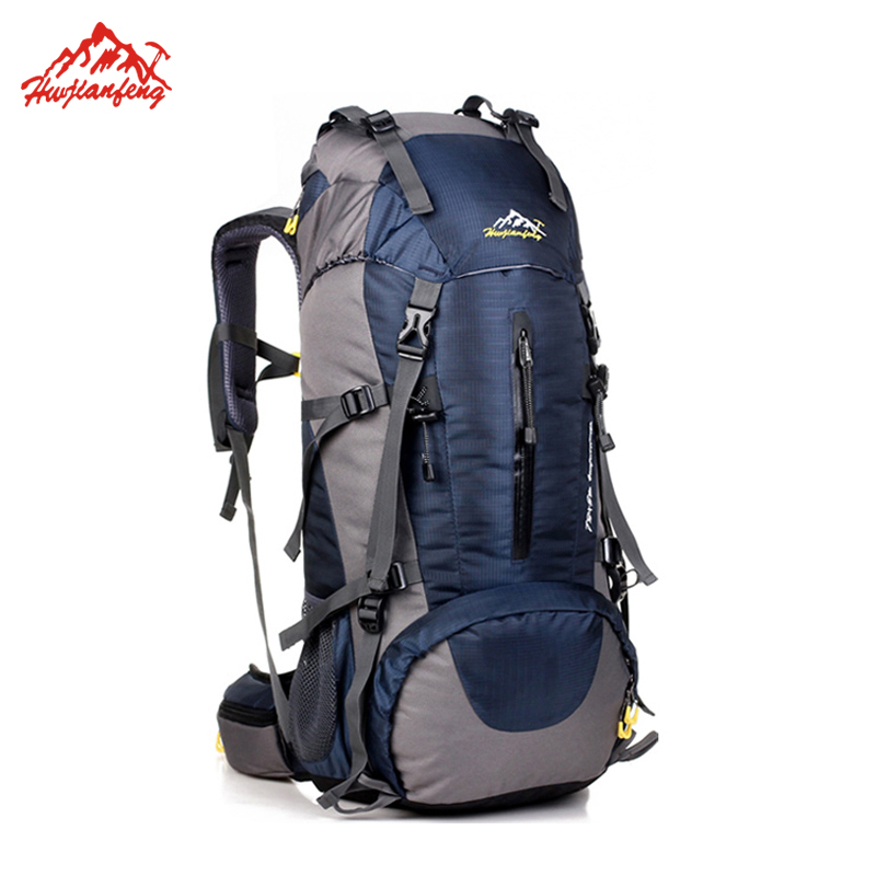 Waterproof Travel Hiking Backpack 50L, Sports Bag For Women Men, Outdoor Camping Climbing Bag, Mountaineering Rucksack free knight hiking backpack 50l waterproof sports bag multifunctional outdoor bags camping hunting travel treck mochila backpack