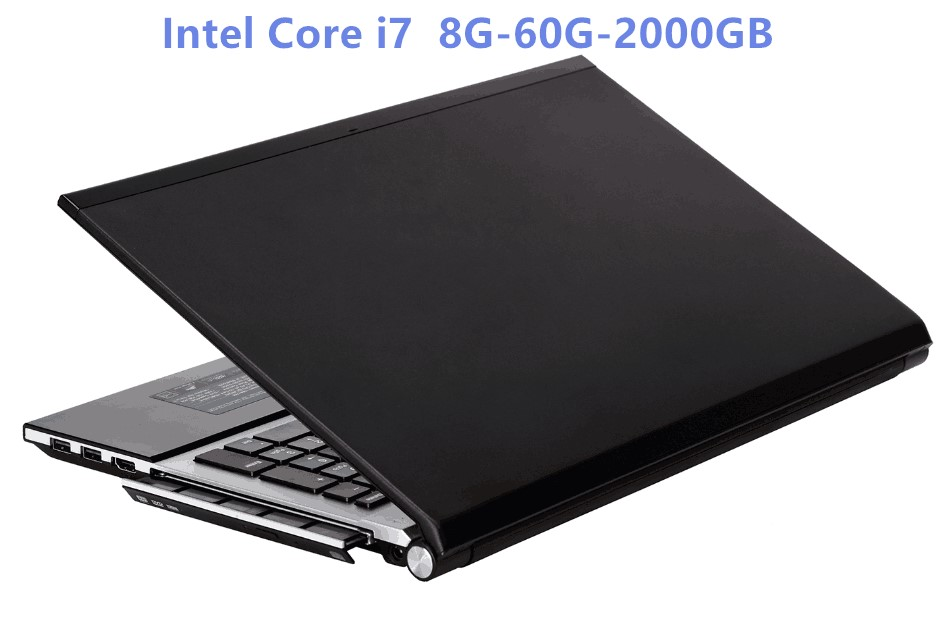 Intel Core i7 CPU HD Graphics Notebook 8GB RAM+60GB SSD+2000GB HDD Gaming Laptop Windows 10 Notebook Built-in Bluetooth DVD-RW