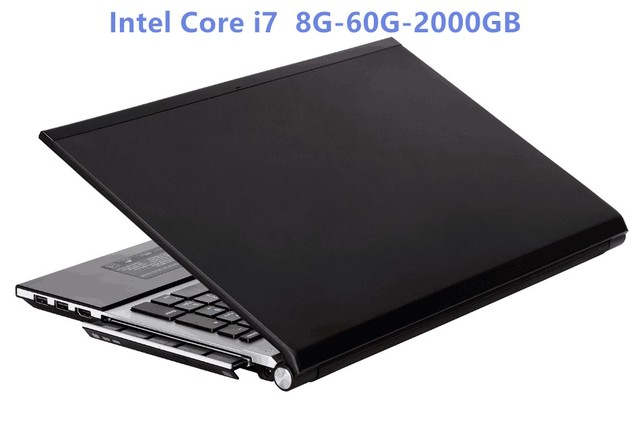 Intel Core i7 HD Graphics 4000 Notebook 8GB RAM+60GB SSD+2000GB HDD Gaming Laptop Windows 10 Notebook Built-in Bluetooth DVD-RW